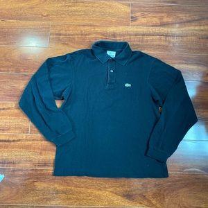 Lacoste Black Polo Shirt Boys Size 14 Long Sleeves